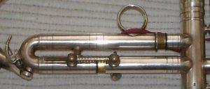 Detail drittes Ventil Trompete